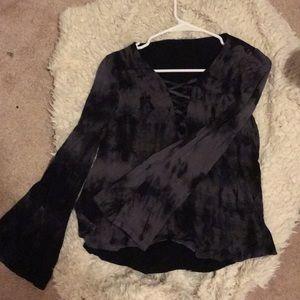 Black Tie dye long sleeve shirt